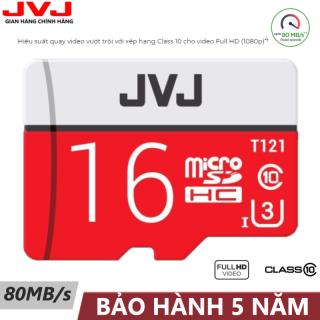 Thẻ nhớ 16G Class 10 U3 JVJ Pro tốc độ cao - thẻ nhớ chuyên dụng camera wifi, camera hành trình , camera, thẻ game, điện thoại , siêu bền, BH 5 năm, 1 đổi 1, Samsung, Oppo, Xiaomi, điện thoại android thumbnail