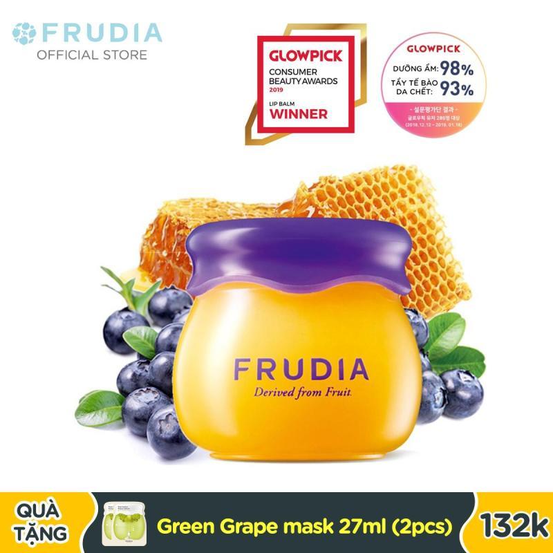Son Dưỡng Ẩm Môi Chiết Xuất Việt Quất Frudia Blueberry Hydrating Honey Lip Balm 10g giá rẻ