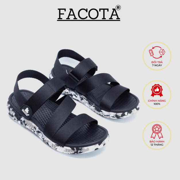 Giày sandal nam Facota HA03 chính hãng sandal thể thao quai dù giá rẻ
