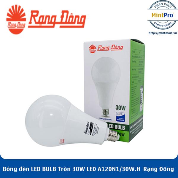Bóng đèn LED BULB Tròn 30W LED A120N1/30W.H Rạng Đông - Hàng Chính Hãng