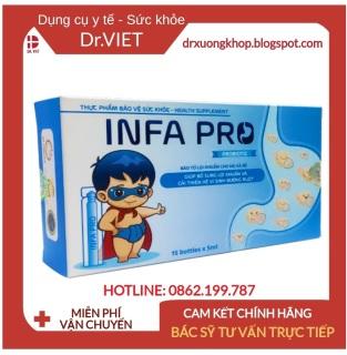 Bào tử lợi khuẩn INFA PRO - Men vi sinh thế hệ mới cho trẻ biếng ăn, táo bón, chậm lớn- Hộp xanh 20 ống, Hỗ trợ giảm táo bón, tiêu chảy, rối loạn tiêu hóa. Hỗ trợ tăng khả năng miễn dịch và sức đề kháng, kích thích tiêu hóa thumbnail
