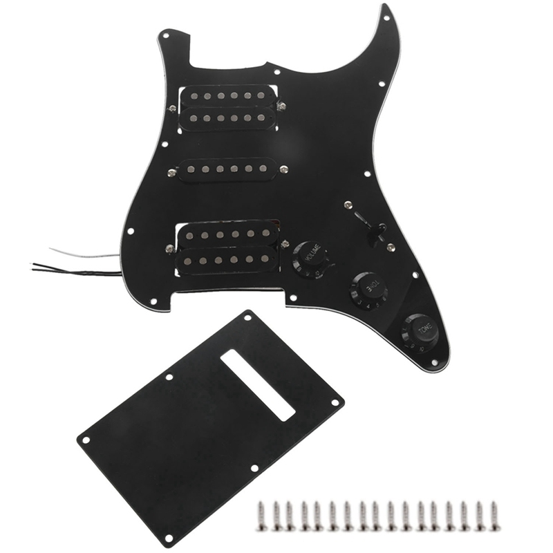 Black Wired Plate Pickguard Humbuckers for Hsh Guitar