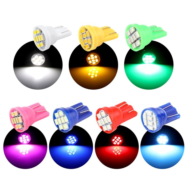 Combo 05 Đèn LED T10 8 SMD Thay Thế Cho Ôtô, Xe Máy, Gắn Mặt Đồng Hồ Xe