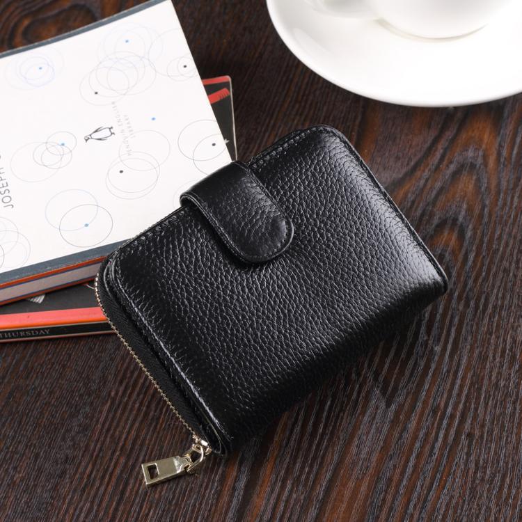 2017 model baru dompet wanita model pendek multifungsi dompet kartu model wanita Dompet Kulit Pria Kulit asli SIM sarung kulit