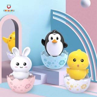Đồ chơi lật đật có hạt xúc xắc hình con vật ngộ nghĩnh chất liệu nhựa ABS cao cấp dành cho trẻ em từ 6 tháng trở lên phát triển kỹ năng nghe nhìn cầm nắm thumbnail