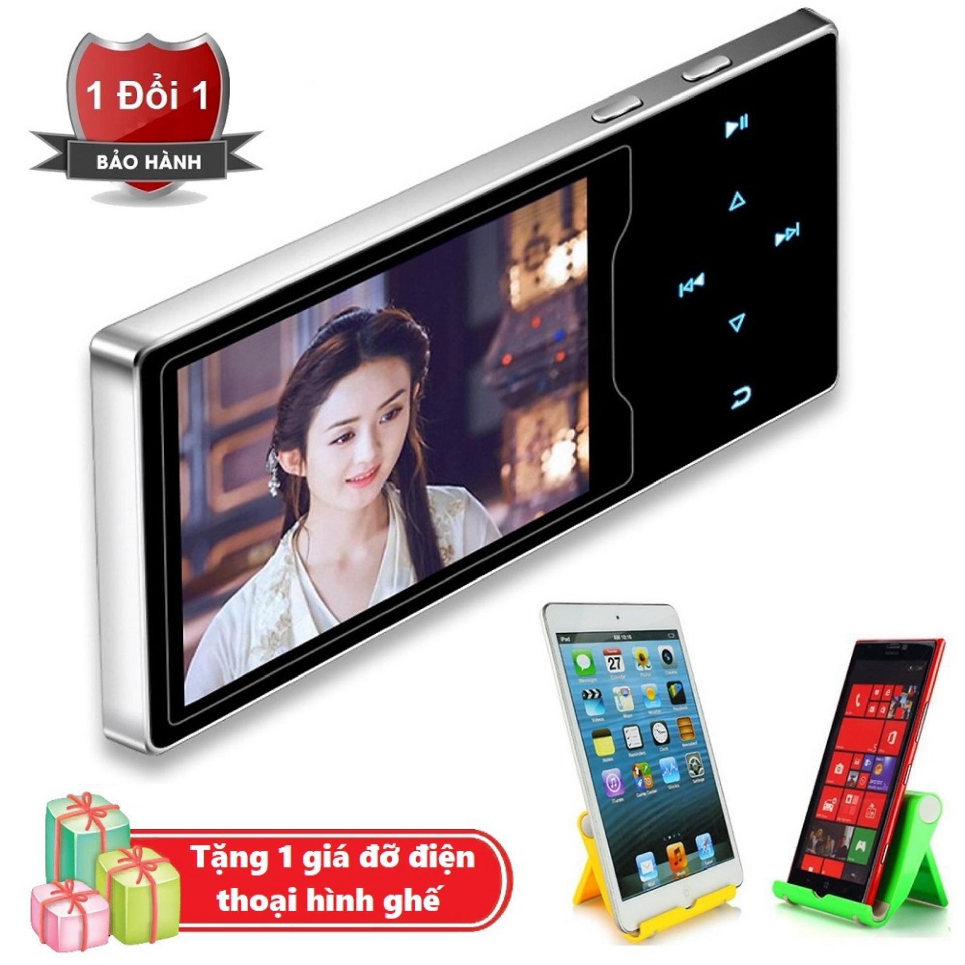 Máy nghe nhạc Ruizu D08 cao cấp màn hình HD 2.4 inch Tặng kèm Giá đỡ điện thoại hình ghế