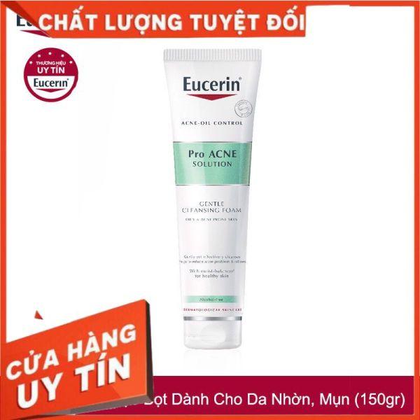 [CHÍNH HÃNG][EUCERIN]Sữa Rửa Mặt Cho Da Mụn Pro Acne Gentle Cleansing Foam 150g - Tạo Bọt Dịu Nhẹ