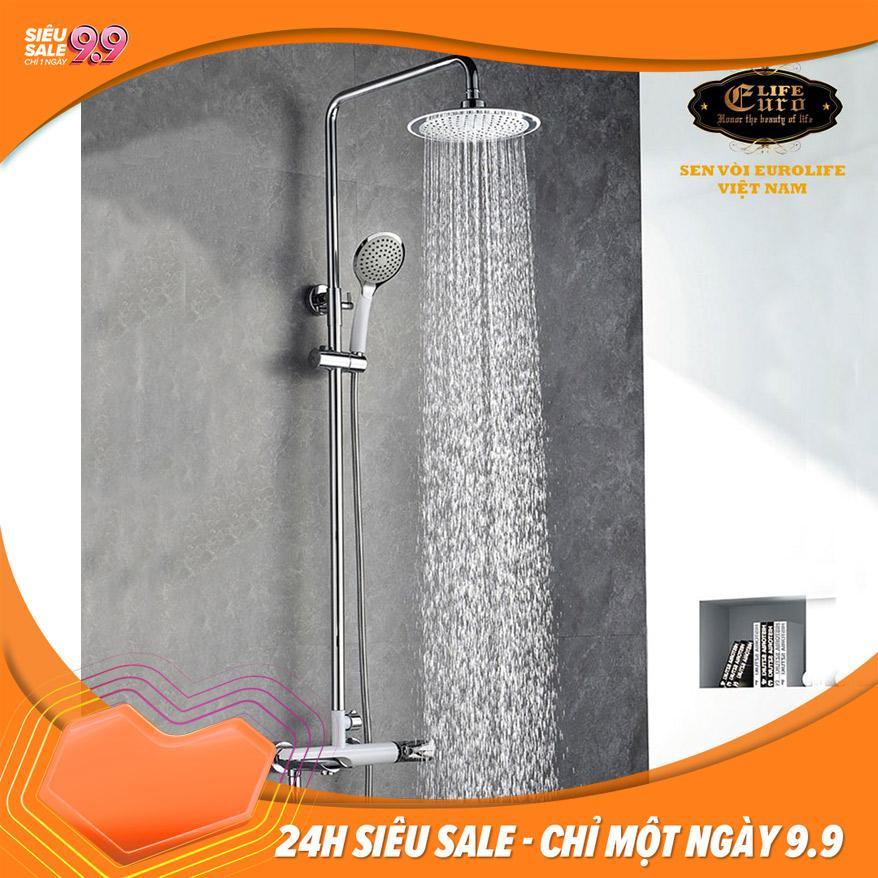 Bộ sen cây tắm đứng nóng lạnh Eurolife EL-S905 (Trắng...
