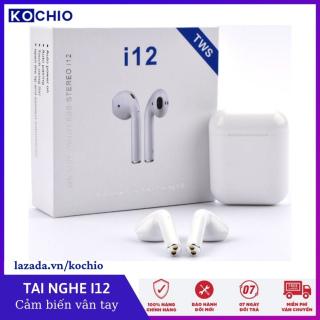 Tai nghe bluetooth không dây nhe t tai i12 - Cho do ng điê n thoa i thông minh như Sony, Samsung, Iphone, Oppo - Ca m ư ng 5.0, chô ng nươ c, pin trâu, tai nghe gaming, nâng cấp hơn i7,i9, i11,,f9 pro, s11, TWS - KOCHIO thumbnail