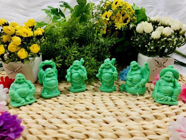 Mua Bộ 6 tượng Phật Di Lặc Hoan Hỉ đá màu xanh cẩm thạch