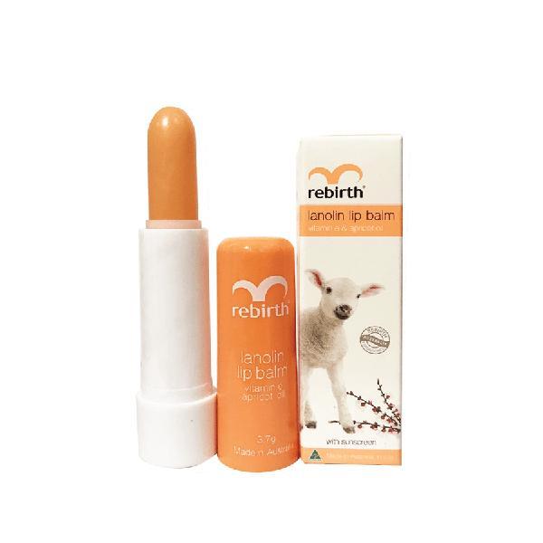 Son dưỡng môi chiết xuất nhau thai cừu Rebirth Lanolin Lip Balm 3.7g