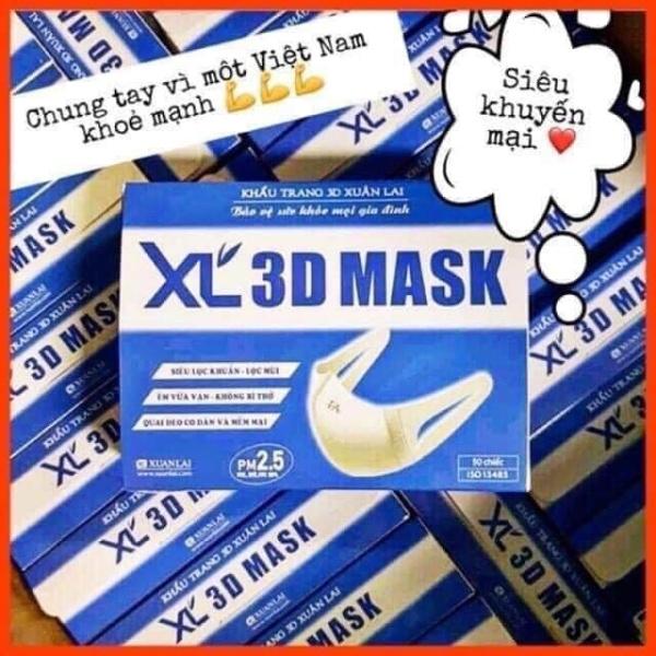 KT 3D mask hộp 50 cái màu trắng hàng chuẩn công ty
