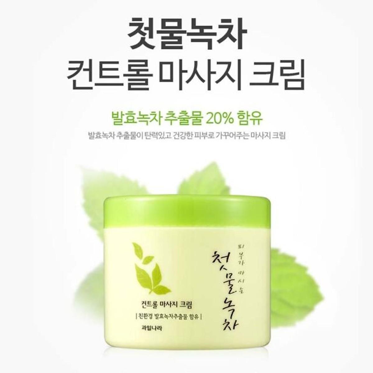 Kem massage thảo dược trà xanh Green tea Massage Cream Hàn Quốc 300ml cao cấp