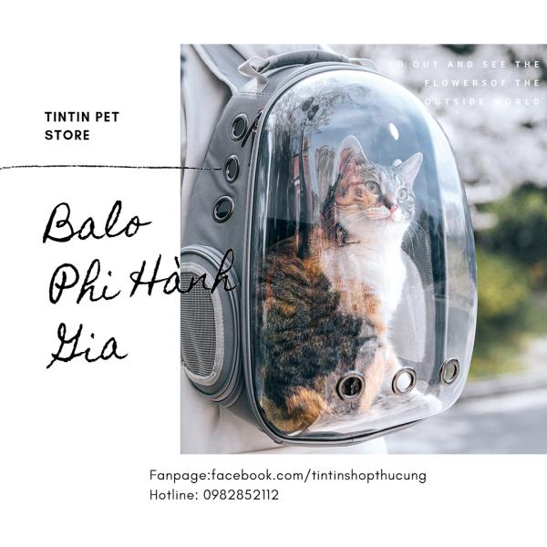[SHIP HỎA TỐC] Balo Phi Hành Gia Trong Suốt Vận Chuyển Chó Mèo Kèm Thảm Lót