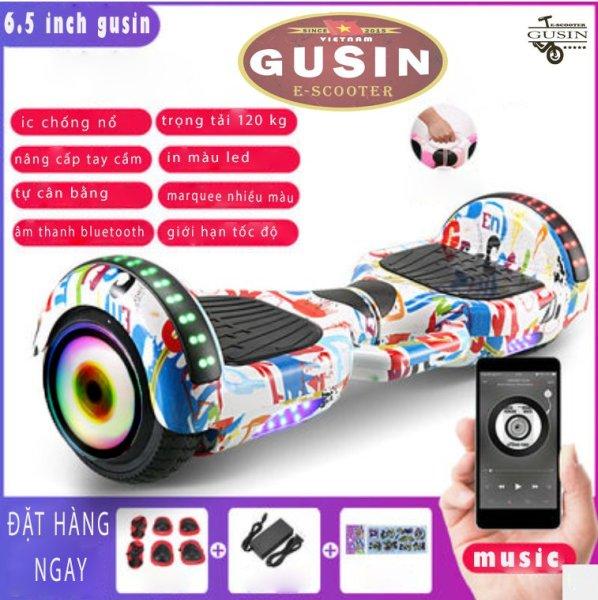 Mua [HCM]xe điện tự cân bằng 6.5inch Màu Trắng chính hãng GuSin / có video test / có loa Bluetooth2.0