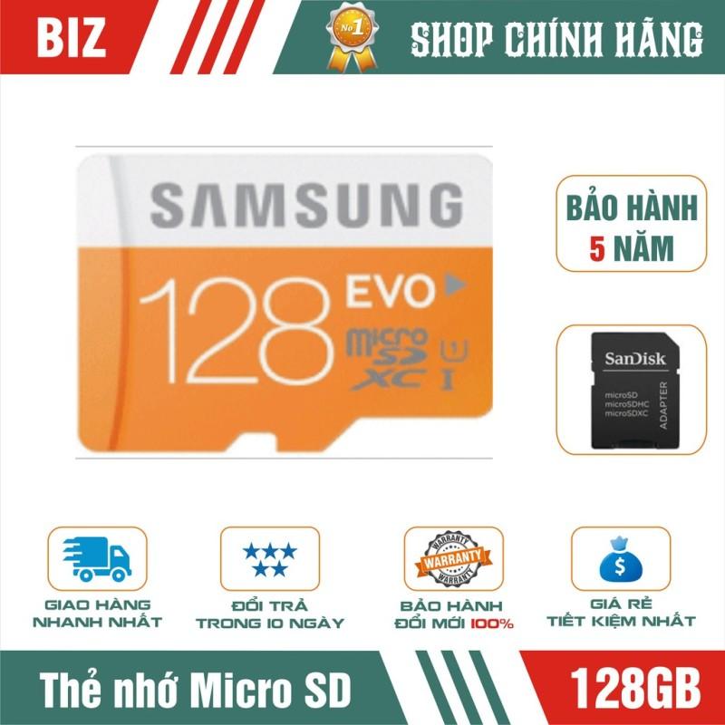 [Nhập LZDEL51 giảm 10% tối đa 200k cho đơn 99k]  Thẻ nhớ 128Gb Samsung Microsd Evo Plus kèm Adapter-bảo hành 5 năm!