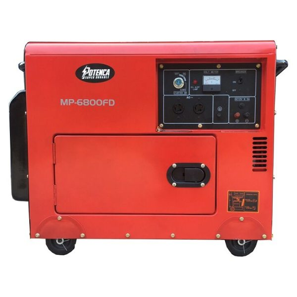 Máy Phát Điện Chạy Dầu 5Kw Potenca MP-6800FD