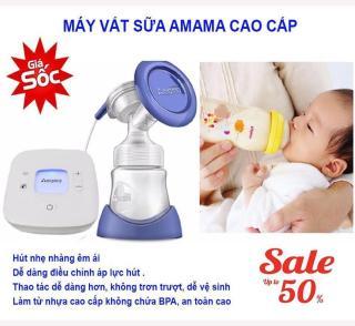 Máy hút sữa mẹ Amama-Thiết kế cho sữa chảy trực tiếp từ phễu silicon vào bình sữa-giảm cơn đau tức ngực do đầy sữa-An toàn cho mẹ và bé-,sản phẩm không thể thiếu đối với mẹ thông thái sale sốc 50%, giao hàng toàn quốc tại May Store thumbnail