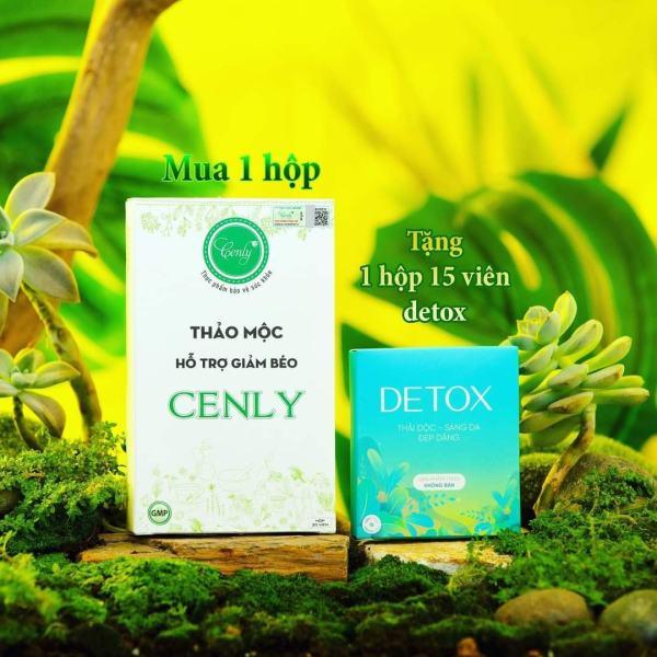 Thảo mộc giảm béo loại thuong 30viên - tặng 15v detox