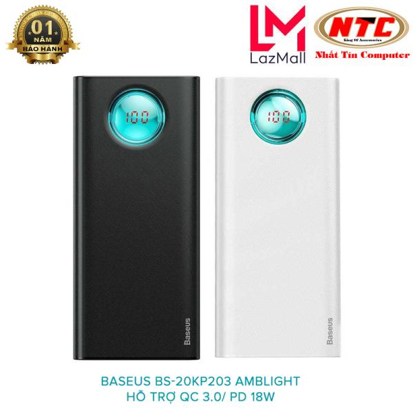 Pin dự phòng Baseus PPALL-LG01 Amblight 20000mAh hỗ trợ PD 18W và QC 3.0/2.0 - Nhat Tin Certified Store