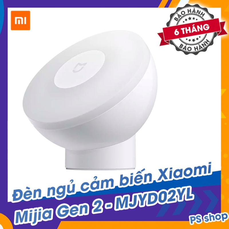 Đèn ngủ cảm biến Xiaomi Mijia gen 2 đế nam châm từ tính xoay góc 360 độ - Ánh sáng dịu nhẹ - Bảo vệ mắt - Tạo không gian dễ chịu thoải mái - Cho giấc ngủ sâu - MJYD02YL - dùng pin AA