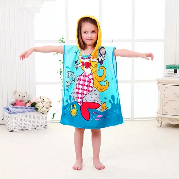 Giá bán Khăn choàng tắm đi biển cho bé màu sắc vui nhộn (hàng loại I) cho bé 2-10 tuổi – KH001