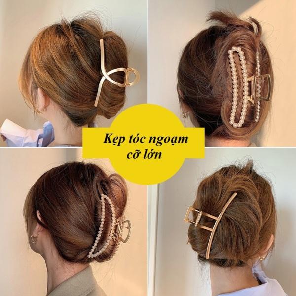 Kẹp Tóc Càng Cua Kim Loại Cỡ Lớn - Kẹp tóc ngoạm Phong Cách Hàn Quốc Thanh Lịch KTN002 nhập khẩu