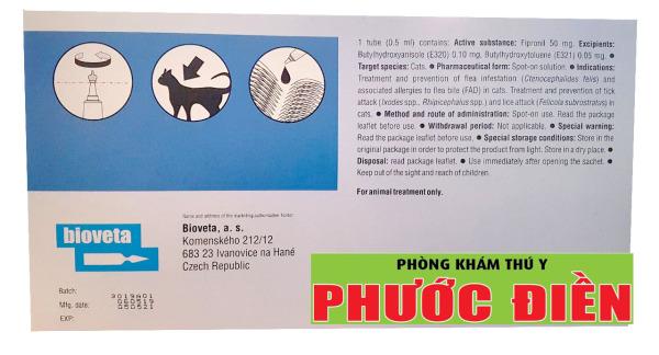 Fipron - Phòng và loại ve, bọ chét cho mèo