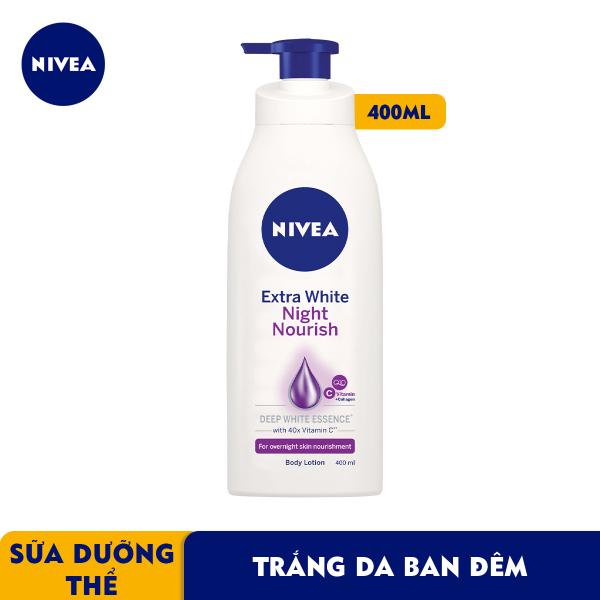 Sữa Dưỡng Thể Trắng Da Nivea Ban Đêm 400ml - 88126 nhập khẩu