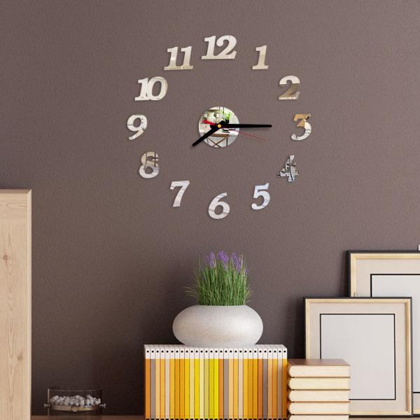 Nơi bán [15 MẪU] Đồng hồ dán tường DIY 40x40 + Pin, số & chữ tiếng anh - Đồng hồ treo tường - Nhiều mẫu - DH76