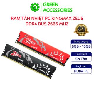 Ram Tản Nhiệt PC KingMax Zeus Dragon DDR4 16GB 8GB Bus 2666Mhz tản nhiệt, nâng cấp máy tính - Hàng Chính Hãng thumbnail