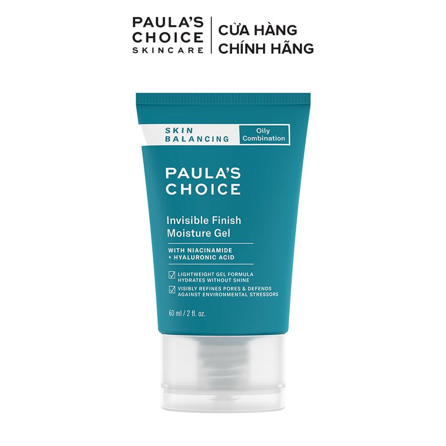 Kem dưỡng ẩm ban đêm dạng gel Kiểm soát tiết dầu cho da thoáng mịn Paula's Choice Skin Balancing Invisible Finish Moisture Gel 60ml