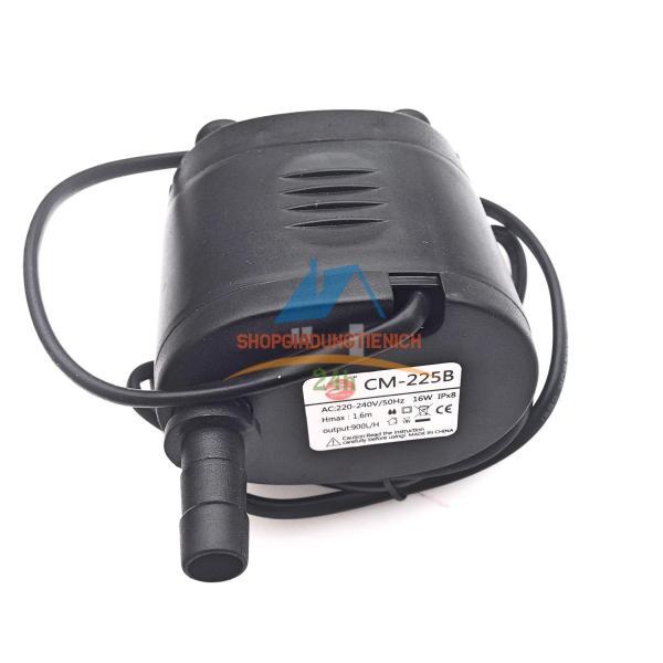 Bơm ngập nước dùng cho quạt điều hòa hơi nước, bể cá, non bộ, chế đồ DIY 16W CM-225B