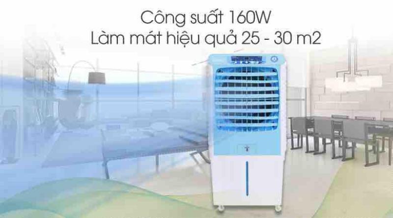 Quạt điều hòa Daikio DKA-04000A mới,Có thang đo hiển thị mực nước, Hẹn giờ tắt, Tự ngắt bơm khi cạn nước