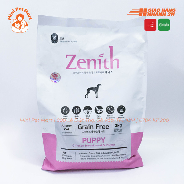 [3kg] Thức ăn hạt mềm cho chó con ZENITH 3kg - Vị thịt gà