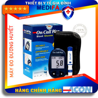 [Hàng chính hãng, Giá Đại Lý] Combo Máy Đo Đường Huyết On Call Plus, đủ phụ kiện kèm theo thumbnail