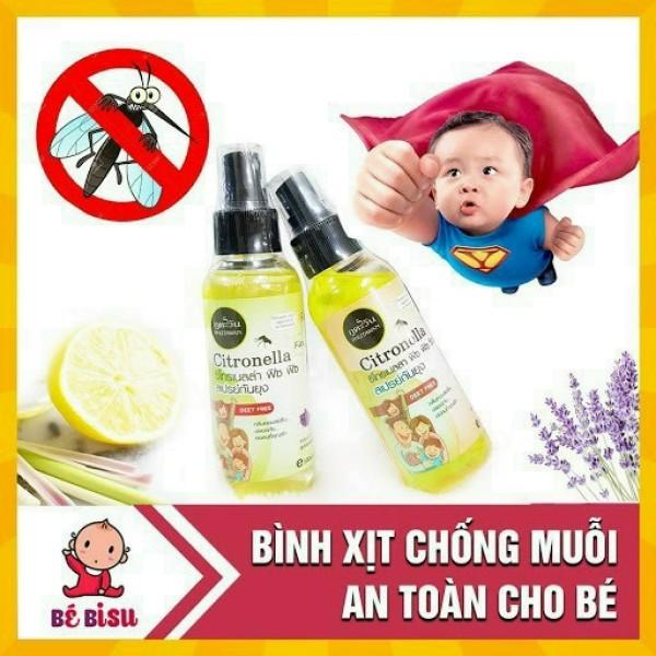 Xịt chống muỗi hàng Thái Lan -Dùng được cho trẻ nhỏ -Nguyên liệu an toàn tuyệt đối -100ML DATE MỚI