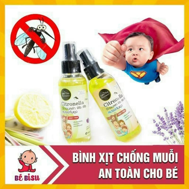 [XẢ KHO] Xịt chống muỗi hàng Thái Lan -Dùng được cho trẻ nhỏ -Nguyên liệu an toàn tuyệt đối -100ML DATE MỚI