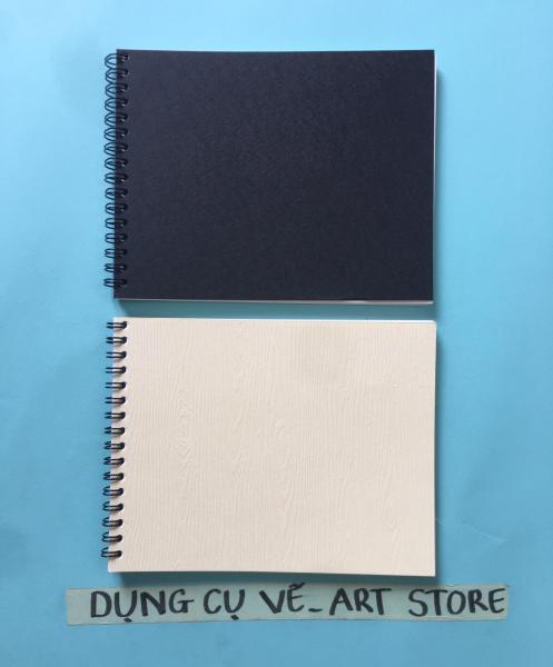 Mua Sổ vẽ màu nước CANSON 250gsm TRUYỀN THỐNG Vân Ngang Dày 25 Tờ gáy lò xo bìa đen