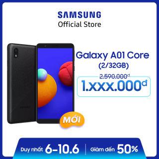 Điện thoại Samsung Galaxy A01 Core (2GB/32GB)  - Màn hình chuẩn HD+ - Mới 100% - Bảo Hành 12 tháng -  Miễn phí vận chuyển