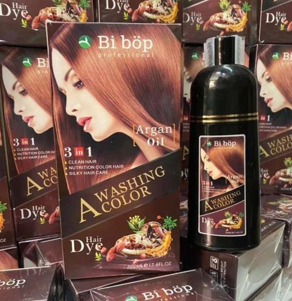 Ở nhà cũng có tóc đẹp Gội nâu sô cô la Bibop Nhật Bản lên màu ngay sau 15 phút chuyên gia phủ bạc cao cấp