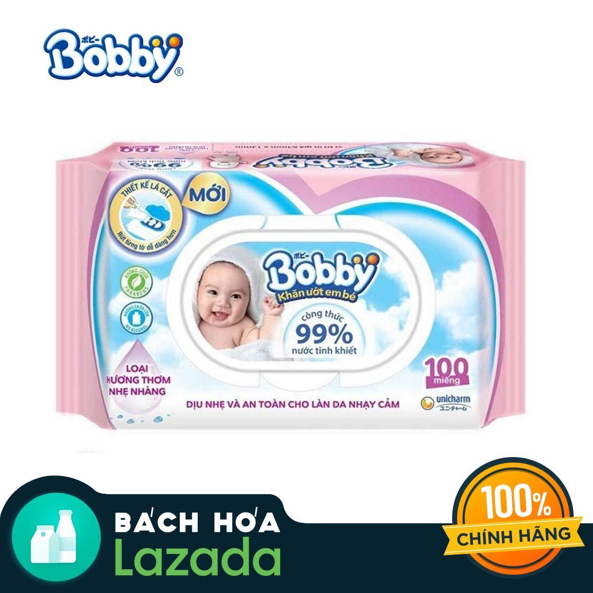 Khăn ướt trẻ em Bobby Care hương dịu nhẹ gói...