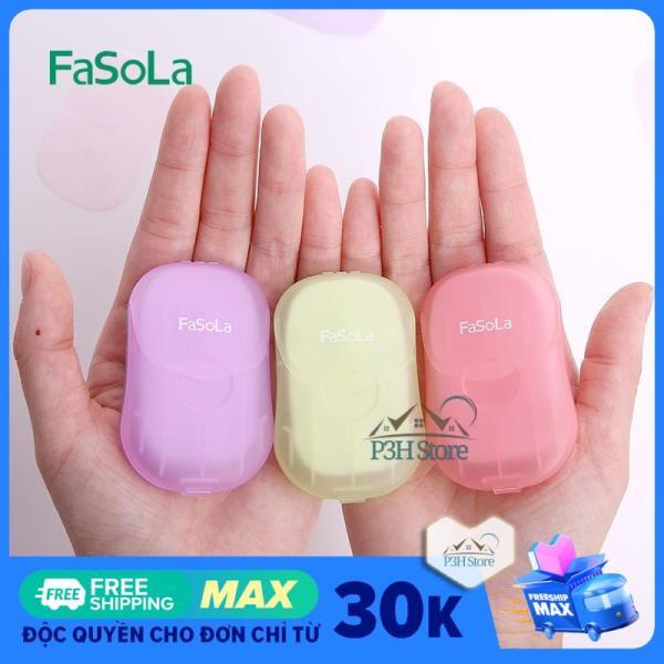 Hộp xà phòng giấy 50 tờ Fasola tiện dụng mang theo bên mình JY162 giá rẻ