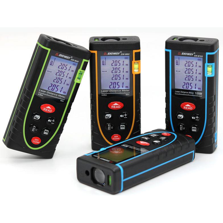 [HCM]Sndway thước đo khoảng cách bằng laser - 40M/50M/60M/70M/100M/120M tiêu chuẩn IP54 giúp chống bụi đèn laser định hướng tiết kiệm chi phí thời gian
