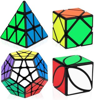 Combo 4 Rubik Biến Thể QiYi Gift Box Mastermorphix Pyraminx Megaminx Skewb Ivy cube thumbnail