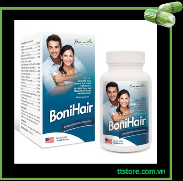 BoniHair (Hộp 30 viên) - Viên uống ngừa rụng tóc - [Boni, hair, botania]