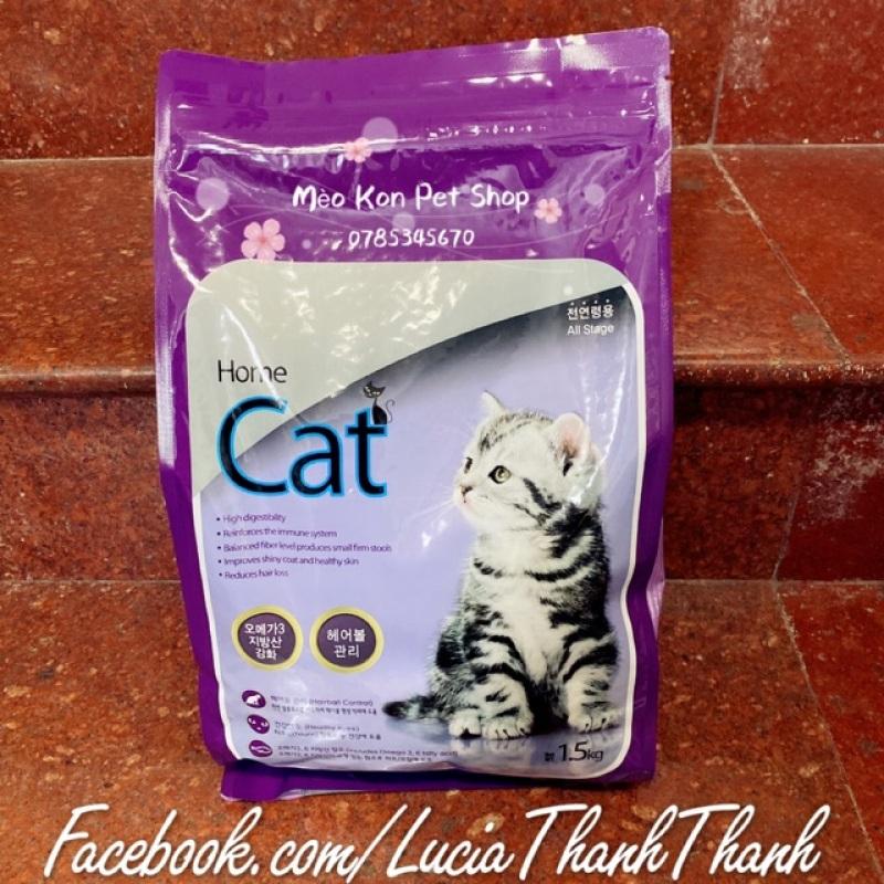 Thức ăn hạt khô Hàn Quốc cho mèo Home Cat bịch nguyên 1.5 KG