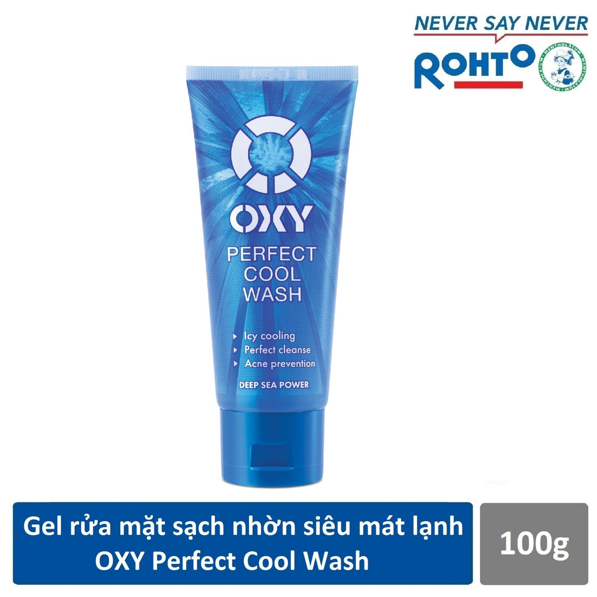 Gel rửa mặt sạch nhờn siêu mát lạnh OXY Perfect Cool Wash 100g cao cấp