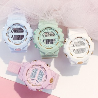 Đồng hồ nữ điện tử SPORT K3333 dây NHỰA silicon -đồng hồ chức năng xem giờ điện tử , báo thức, bấm giờ thể thao dây nhựa silicon cao cấp thumbnail