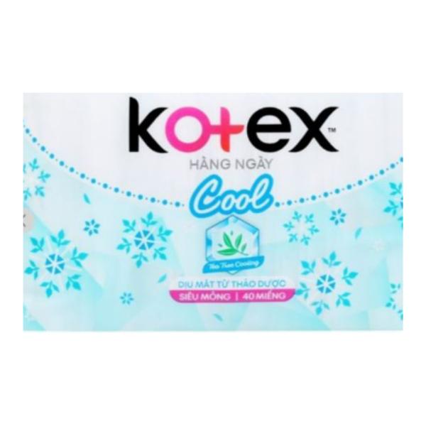[3002 Băng Vệ Sinh Siêu Mỏng 40m] Băng vệ sinh Kotext Hàng Ngày Cool Dịu Mát Từ Thảo Dược Siêu Mỏng Loại 40M giá rẻ